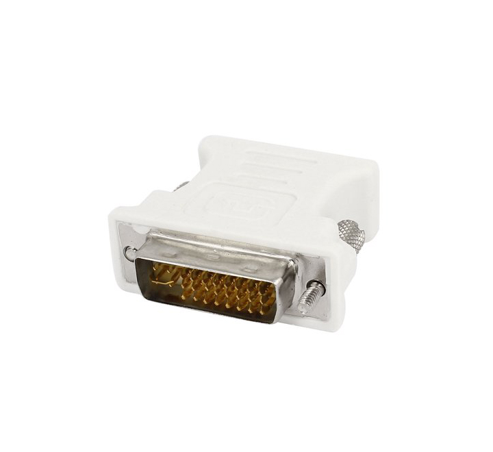 DVI-I Male Analog 15-pin Connector Adapter Dual Link New 24+5 to VGA Female